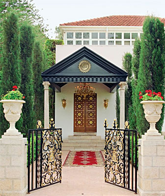 A view of the Mansion of Bahji where Bahá'u'lláh spent the final years of His life.