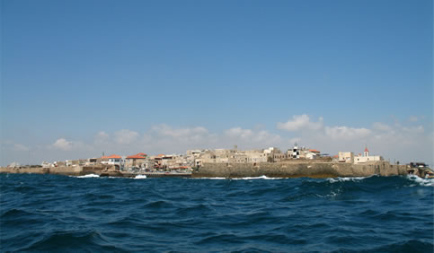 View of 'Akká from the Mediterranean Sea.