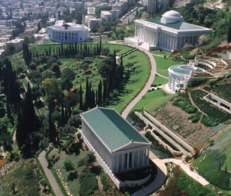 View of the Bahá'í World Centre on Mount Carmel, Haifa.