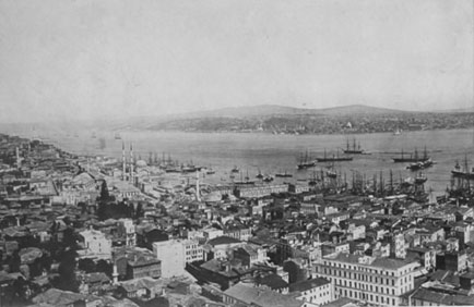 View of Constantinople (now called Istanbul).