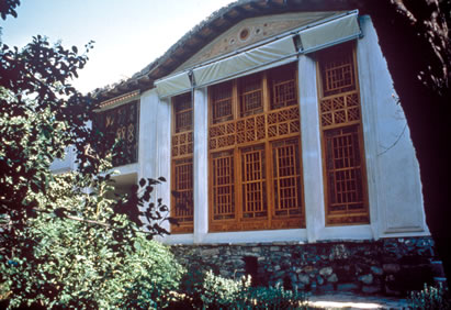 The house of Bahá'u'lláh in Takur, Mázindarán, destroyed by the government in 1981.