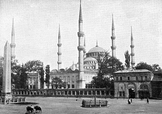 The Blue Mosque in Constantinople.