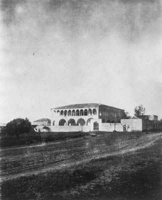 Historical photo of the Mansion at Bahjí where Bahá'u'lláh spent the final years of His life.