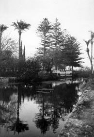 This photograph shows how the water flowed on both sides of the garden.